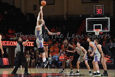 Oregon state mens basketball vs  Carroll College 102319 Leon N521