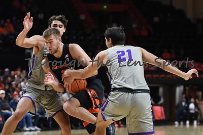Oregon state mens basketball vs  Carroll College 102319 Leon N529