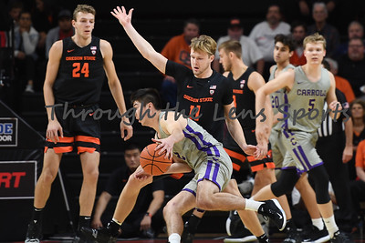 Oregon state mens basketball vs  Carroll College 102319 Leon N523
