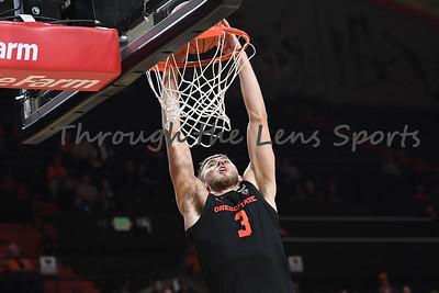 Oregon state mens basketball vs  Carroll College 102319 Leon N577