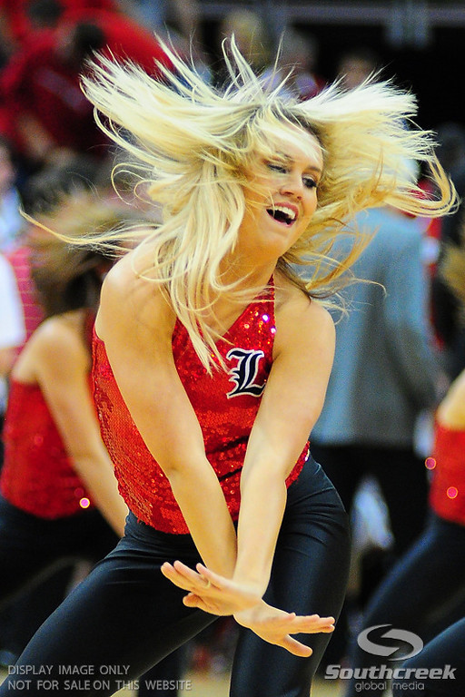 Louisville Lady Birds during the game.  at the KFC Yum Center in Louisville, Kentucky.