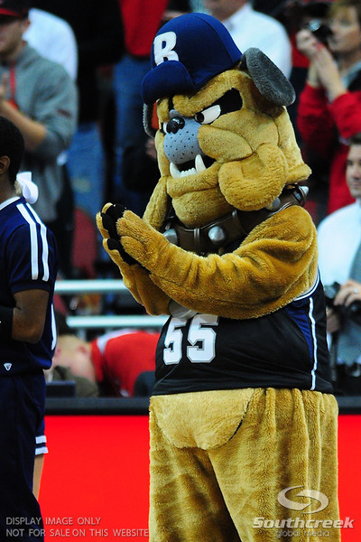 Butler's mascot during the game. At the KFC Yum Center in Louisville, Kentucky.