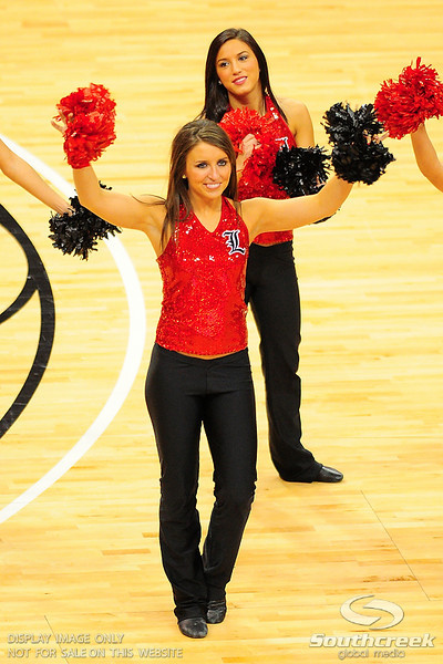 Louisville dance team.  (17) Louisville defeated Marquette 71-70 at the KFC Yum Center in Louisville, Kentucky.