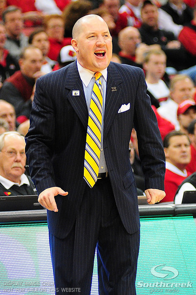 Marquette head coach Buzz Williams during the game.  (17) Louisville defeated Marquette 71-70 at the KFC Yum Center in Louisville, Kentucky.