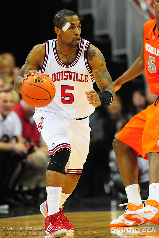 Louisville Cardinals guard Chris Smith (5).  (16) Louisville Cardinals defeated  the (12) Syracuse Orangemen 73-69 at the KFC Yum Center in Louisville, Kentucky.