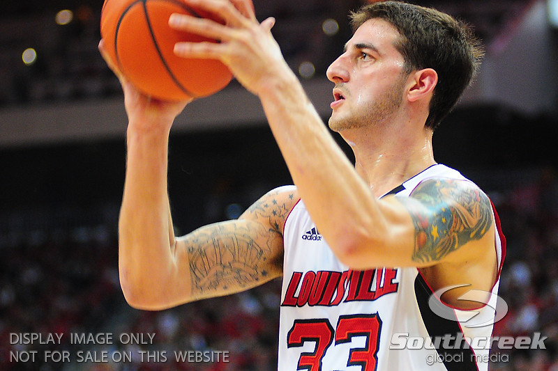 Louisville Cardinals guard Mike Marra (33).  Louisville Cardinals defeated UNLV Rebels 77 - 69 at the KFC Yum Center in Louisville, Kentucky.