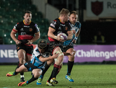 EPCR Challenge Cup match between Dragons and Enisei-STM on Friday December 8 2017 at Rodney Parade, Newport, South Wales Photographer: Simon Latham