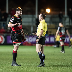 EPCR Challenge Cup match between Dragons and Newcastle Falcons on Friday December 15 2017 at Rodney Parade, Newport, South Wales Photographer: Simon Latham