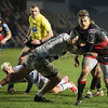 EPCR Challenge Cup match between Dragons and Bordeaux on Saturday January 20 2018 at Rodney Parade, Newport, South Wales<br /> Photographer: Simon Latham