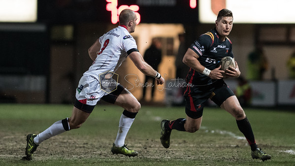 Newport Gwent Dragons v Ulster at Rodney Parade, Guinness Pro 12, Friday 24 March 2017