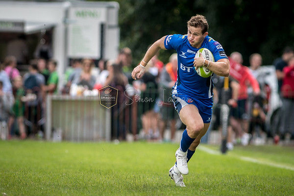 Pre Season Friendly, Dragons v Glasgow Warriors at Eugene Cross Park in Ebbw Vale, South Wales on Friday 25 August 2017.   Pictures by Simon Latham Dragons Official Supporters Club Photographer