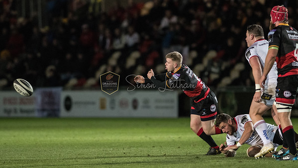Dragons v Ulster at Rodney Parade, Guinness Pro 14 , Friday 1 December 2017