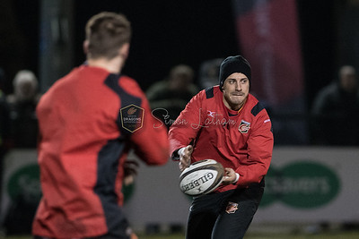 Dragons v Edinburgh at Eugene Cross Park, Guinness Pro 14 , Friday 23 February 2018