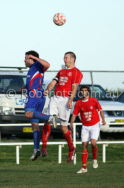 """Action from the Illawarra Premier League match between Woonona and Fernhill played at Ocean Park on the 30th August 2009. Fernhill won the match 4-2. Photo - Rob Sheeley -  <a href=""""http://www.robshots.com.au"""">http://www.robshots.com.au</a>"""