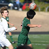 WEST LINN, OR - SEPTEMBER 11, 2017:  The Jesuit Crusaders take on the West Linn Lions in a JV2 men's soccer game game at Rosemont Ridge Middle School in West Linn, Oregon.  (Photo by Brian Murphy)
