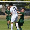 PORTLAND, OR - SEPTEMBER 13, 2017:  Jesuit Crusaders JV2 Men's Soccer vs. the  Beaverton Beavers at Beaverton High School in Beaverton, Oregon