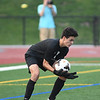 PORTLAND, OR - SEPTEMBER 14, 2017:  Jesuit Crusaders Varsity Men's Soccer vs. the Lake Oswego Lakers at Jesuit High School in Portland, Oregon. (Photo by Brian Murphy)