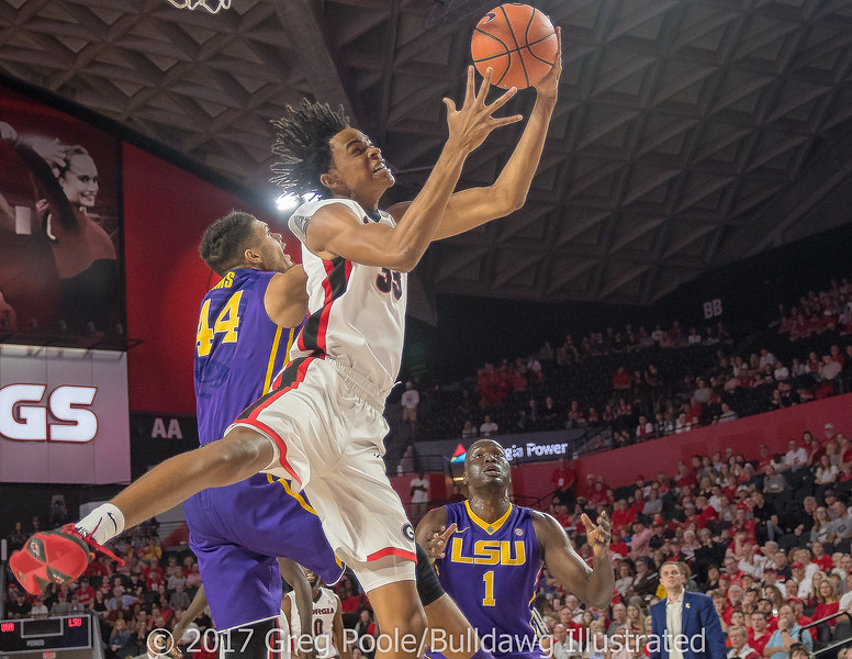 Nicolas Claxton fights for a rebound – Georgia vs. LSU – February 24, 2018