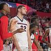 Georgia's bench celebrates as the clock winds down – - Georgia vs. LSU – February 24, 2018