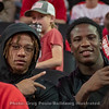 Football players supporting the HoopDawgs