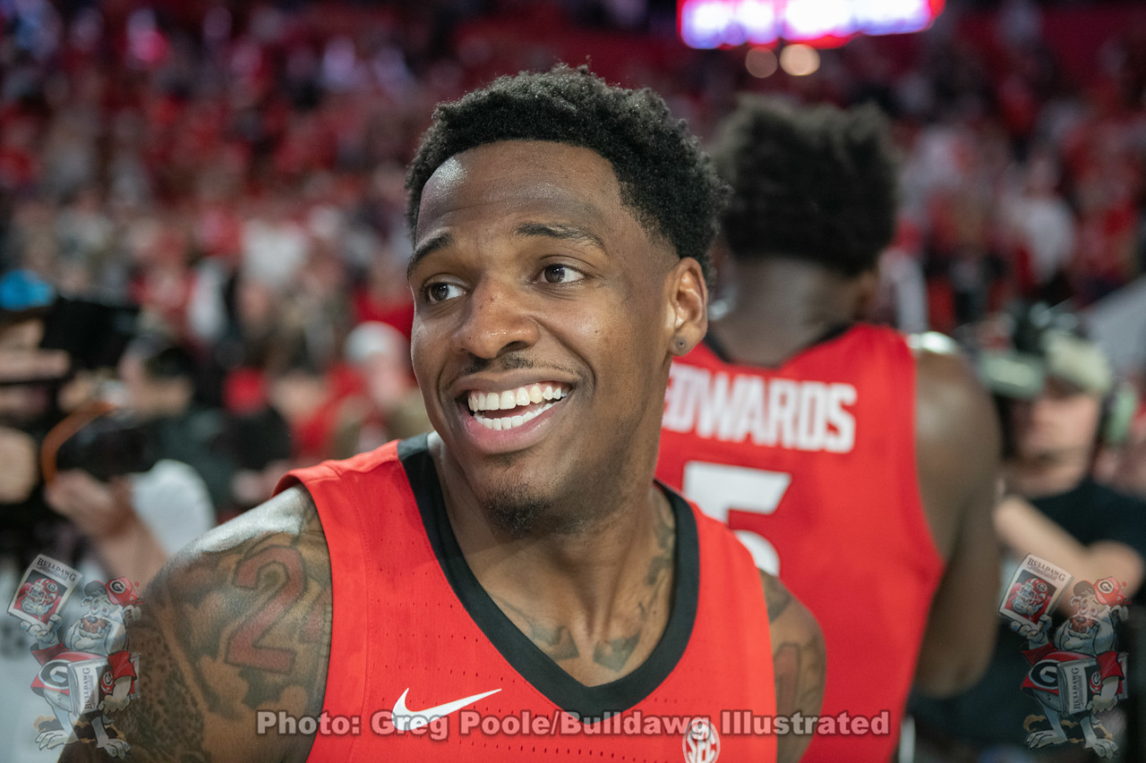 UGA men's basketball senior student-athlete Tyree Crump (4)