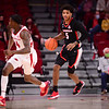 Georgia basketball player Justin Kier (5) during the Bulldogs' game at Arkansas on Saturday, Jan. 9, 2021. (Photo by Gunnar Rathbun)
