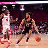 Georgia basketball player Mikal Starks (23) during the Bulldogs' game at Arkansas on Saturday, Jan. 9, 2021. (Photo by Gunnar Rathbun)