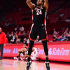 Georgia basketball player P.J. Horne (24) during the Bulldogs' game at Arkansas on Saturday, Jan. 9, 2021. (Photo by Gunnar Rathbun)