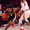 Georgia basketball player Sahvir Wheeler (2) during the Bulldogs' game at Arkansas on Saturday, Jan. 9, 2021. (Photo by Gunnar Rathbun)