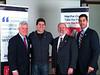 Celebrating creation of WRD 2013 PSA (L-R):  Suffolk DA Dan Conley, Producer Neal Robert (Good Life Productions), JDI's Craig Norberg-Bohm, American Red Cross of Eastern MA CEO Jarrett Barrios