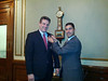 Chelsea City Manager Jay Ash received White Ribbon Pin from WRD Co-Chair Jarrett Barrios - Feb 25, 2013