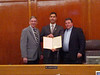 Revere Council President Ira Novoselsky, WRD Co-Chair Jarrett Barrios and Mayor Dan Rizzo - WRD Proclamation - Feb 25, 2013