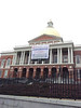 Now that's a banner!  25'x20' displayed in front of MA State House.