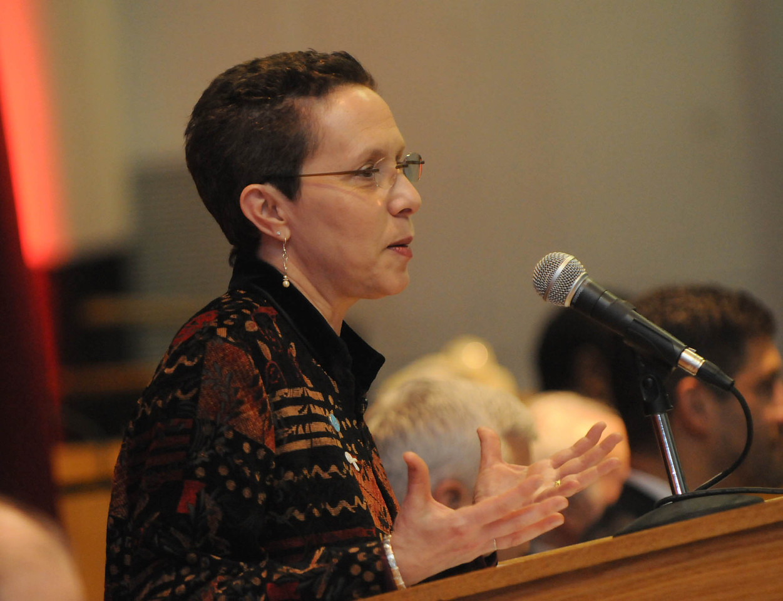Welcome by JDI Deputy Director Debra Robbin.<br /> <br /> (Photo by Renee DeKona)