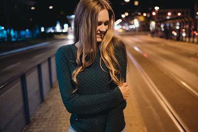 Urbanes Nachtporträt