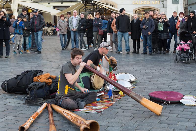 Straatmuzikanten in Praag.