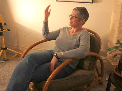 Amy Demmon, the film's videographer. ________________________________________________________________________________________ Filming at the home of Jim Van Buskirk, San Francisco, on March 19th, 2011.  Jim also served as the interviewer for this segment.