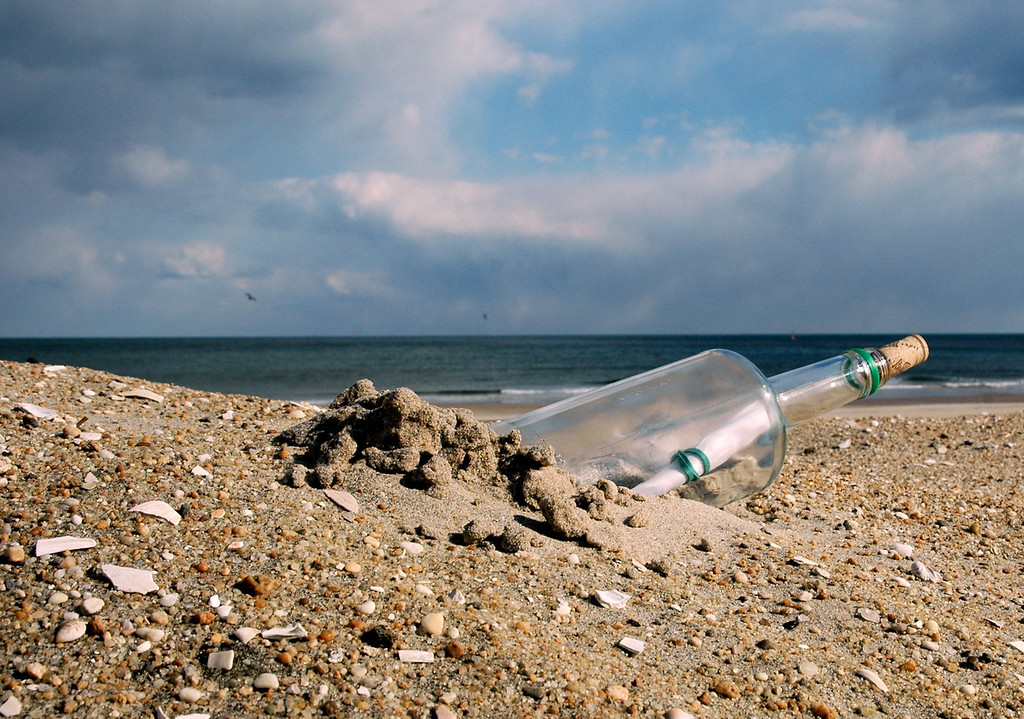 This Photo was a finalist in a photo contest. The subject was  'bottles'<br /> It was titled 'Sending an SOS'