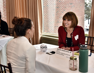 Mentor Martha Asselin Ph.D., Director, Center for Leadership and Service, University at Albany with Shannon Howard