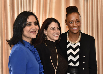 Mentors Sujata N. Chaudhry, Founder & CEO, Tangible Development, left, Dawn Abbuhl, President, Repeat Business Systems, Inc. and Anzala Alozie, Executive Director of Youth Development and Albany YMCA, Capital District YMCA