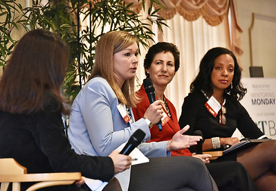 Panelists Judi Gabler, NYS Real Estate Broker/Owner, Gabler Realty, LLC; Ellen Sax, Vice President, Community Engagement, MVP Health Care and Kathleen McLean, President/Management Consultant/Motivational Speaker, The McLean Group