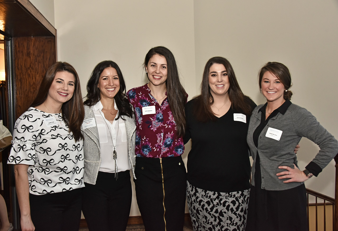 Jennifer Frame, left, Lauren Valentine, Emily Dessingue, Karla Schallehn and Emma Van Vorst