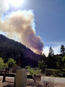 Poudre Valley fire. Approx 1.5 miles away from the flames.   Copyright Lucky Brake Ltd. 2012