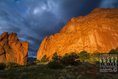 Garden of the Gods at sunrise.