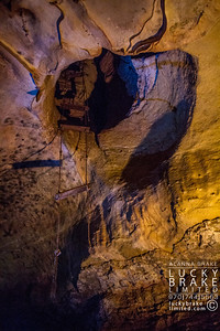 The original ladder from the 1800's which tourists would climb to get to the remainder of the cavern tour.