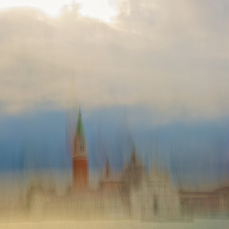 San Giorgio Maggiore as seen from San Marco.  My best Turner impression