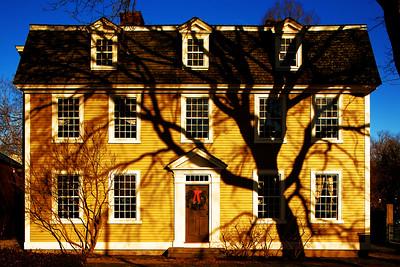 Yellow House at the Peabody Essex Museum, Salem Massachusetts