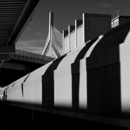 North Station and the Lenny Zakim Bridge