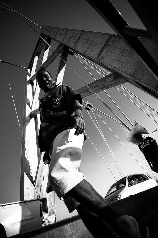 2009-32 Tete - Going home crossing Tetes Bridge over the Zambesi River.