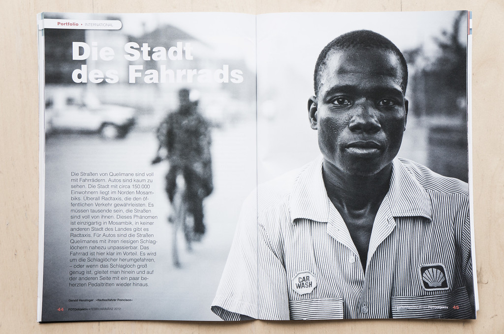 "Bicycle City Quelimane. Published in the Austrian Photomagazine ""FotoObjektiv"""